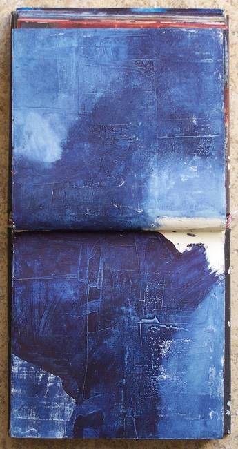 Artwork,   livre-de-matieres:    I'm searching III, carnet de travail PigmentsÉlisabeth Couloigner
