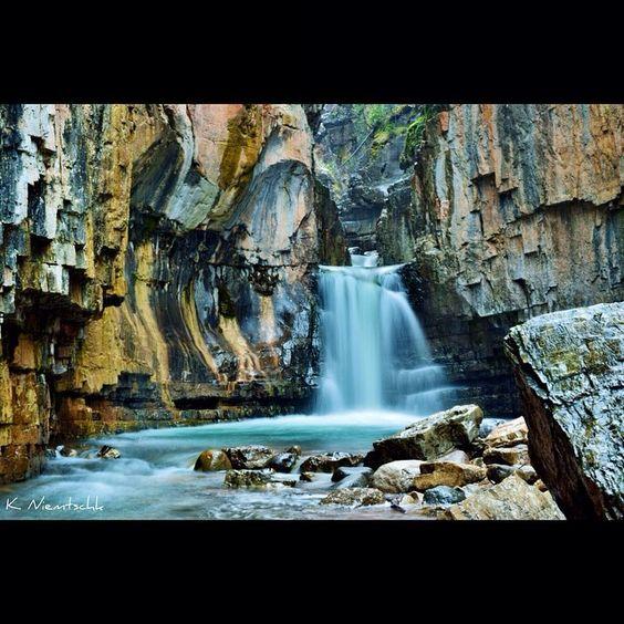 Cascade Canyon, near Durango Colorado. Brave locals jump down a series of waterfalls in this canyon.     Plan your Durango visit!     @k.niemtschk
