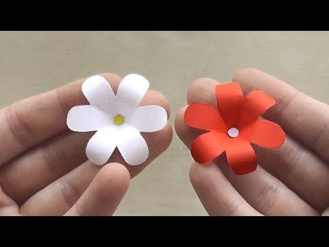 Blume Basteln Mit Papier Blute Als Deko Oder Geschenk Selber Machen Youtube Fiori Di Carta Fiori Origami Fiori