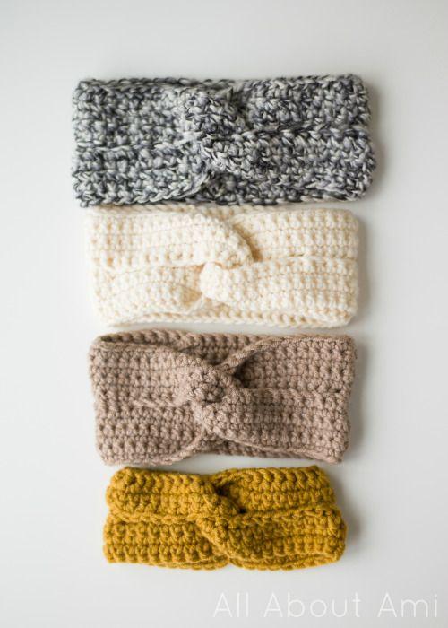 Free Knitting Pattern Twisted Headband : Twist Headbands- free pattern & tutorial available! All ...