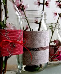 recycled flower vases