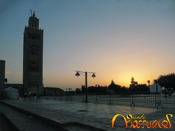 Atardecer en Marrakech, Marruecos