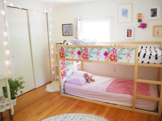 Floral Kura Bed Decals Made Of Removable Wallpaper Self Adhesive