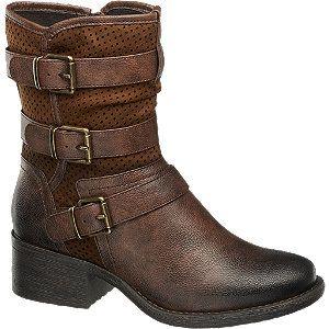 #Graceland #Boots #braun für #Damen mit Reißverschluss Farbe braun Laufsohle TPR Obermaterial PU Innenmaterial Synthetik