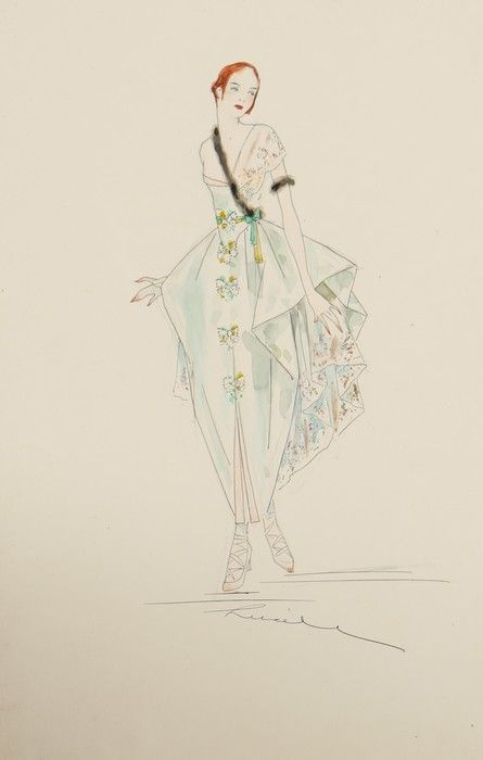 Lucile fashion sketch. Image via Pinterest.