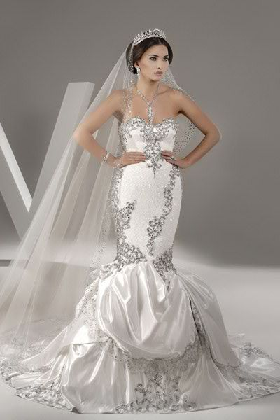 Dress robes mermaids and ux ui designer on pinterest for Lebanese wedding dress designers