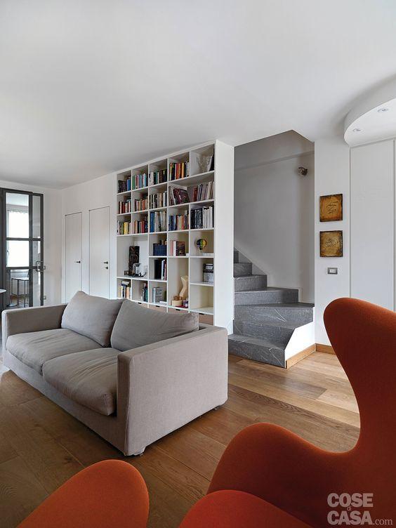 Una casa con zona giorno open space e camera sottotetto   cose di ...