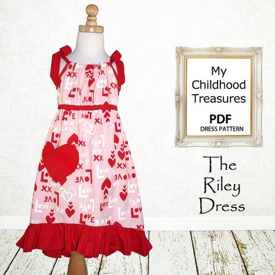 Girls dress pattern Childrens sewing by MyChildhoodTreasures, $7.50