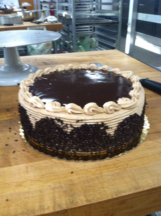 Chocolate cake with chocolate Swiss buttercream and chocolate ganache