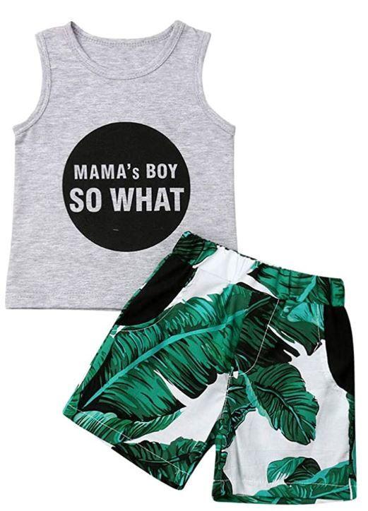 citgeett Toddler Infant Baby Boy Vest Shorts Set Dinosaur Tank Tops+Pants Outfits Summer Clothes