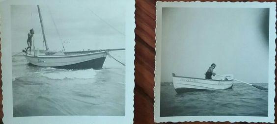 Ahlbeck 1933, rechts im Kahn meine Mutter Links auf der Jolle wahrscheinlich ihr Freund, Georg Dreher