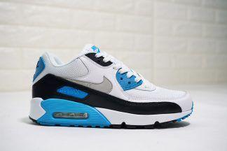 subterráneo cuchara discreción  Nike Air Max 90 Laser Blue White-Black   Hombres sin camisa, Zapatos,  Zapatillas