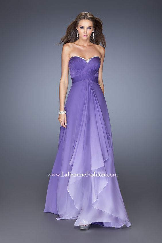 La Femme 19686 - ombre prom dress - purple ombre prom dress ...