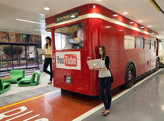 google office hq the google uk headquarters in victoria london feature a routemaster bus turned into big heatherwick futuristic google hq