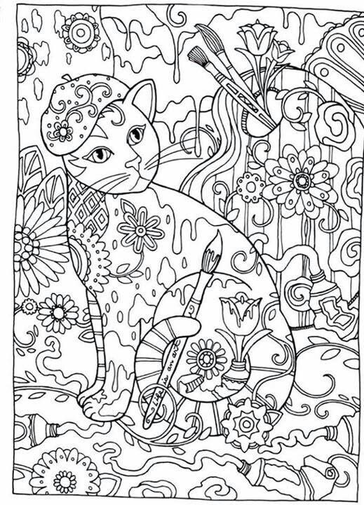 Pin On Cats To Color