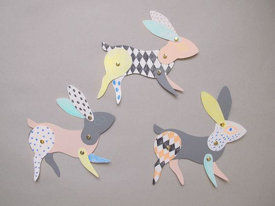 Bunnies, Rabbit and Diy paper
