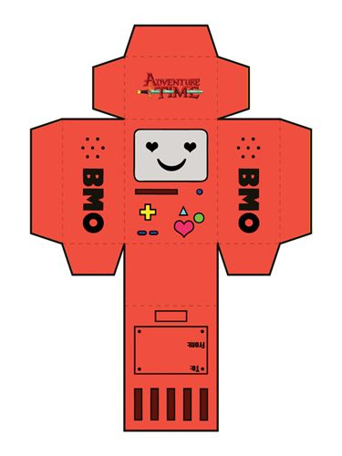 DIY BMO from adventure time cutout valentines! DIY Pinterest