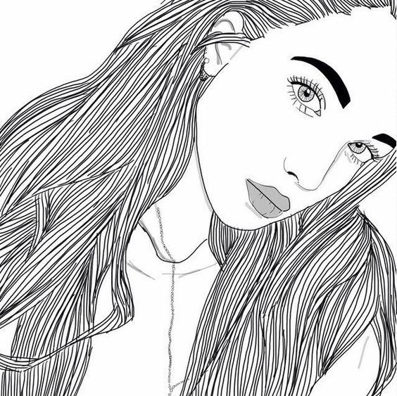Dessins De Fille Tumblr Noir Noir Et Blanc Dessins Fille Filles Grunge Cheveux L Vres