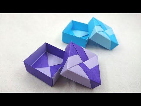 折り紙の箱 簡単 ふた付きのユニット箱のつくり方 Youtube 折り紙の箱 折り紙 折り紙 箱 簡単