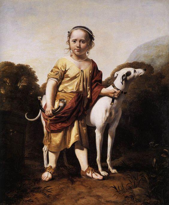EVERDINGEN, Caesar van Portrait of a Girl as a Huntress c. 1665: