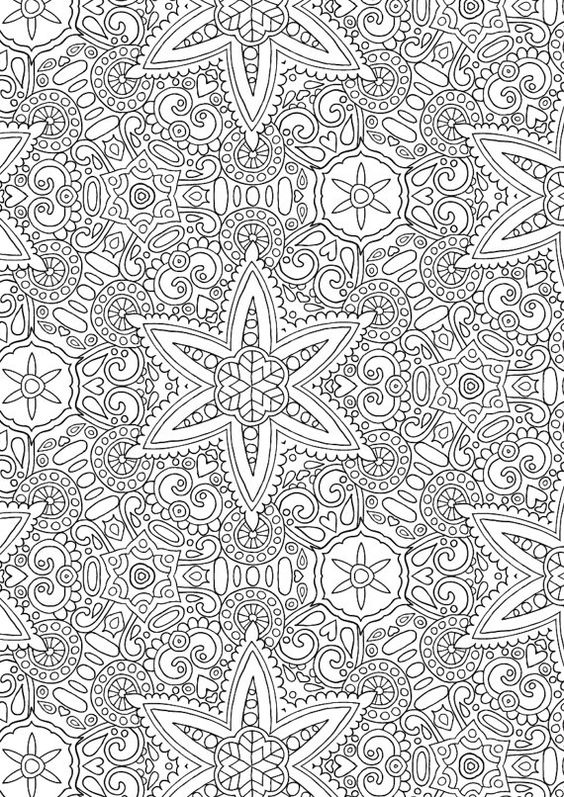 Kaleidoscope 1 colour with me hello angel coloring for Detailed pattern coloring pages