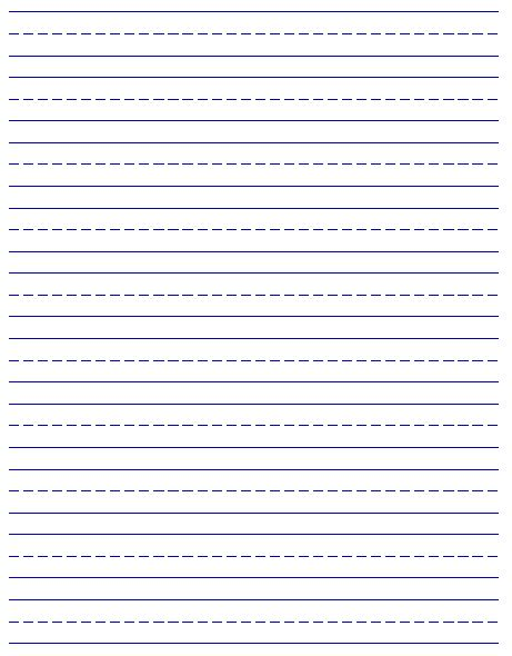 free handwriting paper