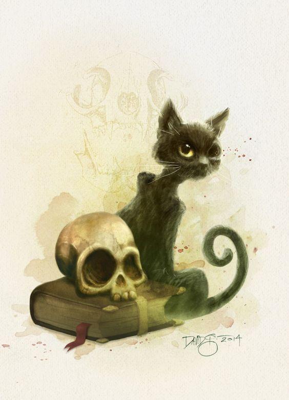 """Edgar Allan Poe's The Black Cat by David G. Forés. Ilustración para la antología ilustrada """"Edgar Allan Poe's Ravings of Love & Death"""""""