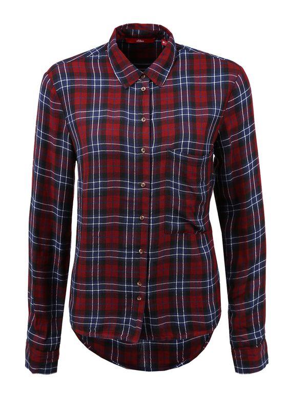 Karierte Flanell-Bluse von s.Oliver. Entdecken Sie jetzt topaktuelle Mode für Damen, Herren und Kinder online und bestellen Sie versandkostenfrei.
