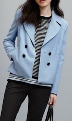 classic swing cut peacoat