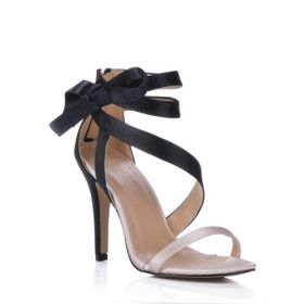 Satin With Bowknot Peep Toe Sandals Pumps