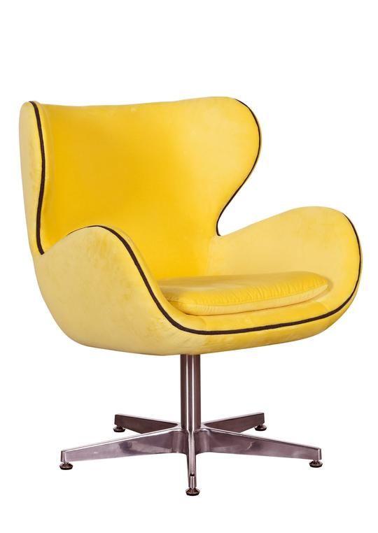 Yellow Kapow Velvet Chair Velvet Chair Trendy Chairs Retro Chair