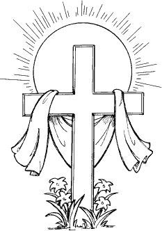 Easter Cross Clipart Black And