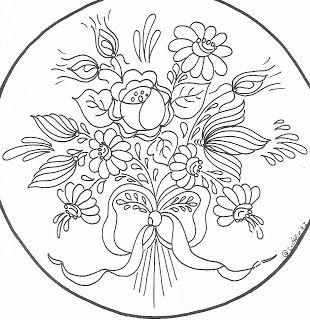 Bauernmalerei pattern: Embroidery Patterns, Fabric, Embroidery Floral, Embroidery Art