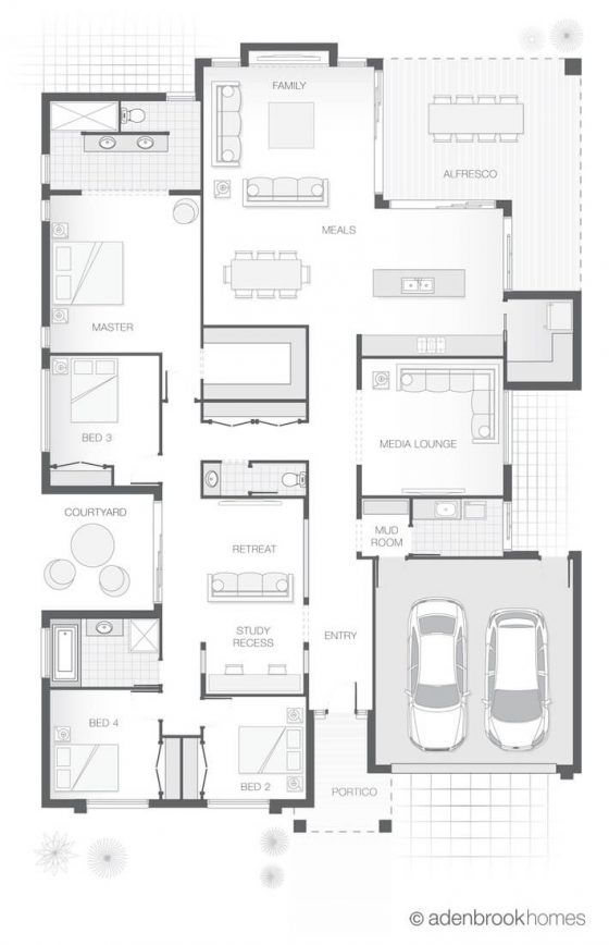 Floor Plan Friday Zones For Living Entertaining And Relaxing Floor Plans Home Design Floor Plans Small House Plans