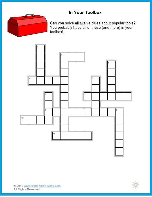 Printable Easy Crosswords For Adults Crossword Crossword Puzzles Games For Fun
