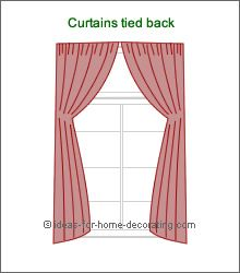 arch curtains tied back