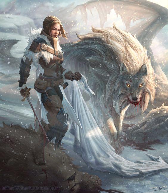 Arya & Nymeria ♦ Lady Stark by Stuart Harrington
