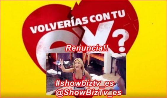#VolveríascontuEX? #Oriana presentó a la producción su carta de renuncia!