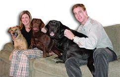 peyton & ashley manning with their dogs