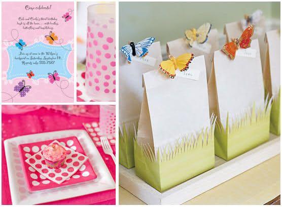 Ideas Fiesta Tema de Mariposas: Party Favor Bags, Butterfly Birthday Party, Birthday Parties, Goodie Bags, Butterfly Party Favors, Party Ideas, Birthday Ideas