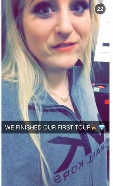 @meghan_trainors snap #wefinishedourfirsttour