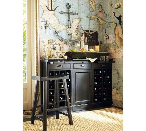 Maps For Wall Paper Great Idea With Images Home Bar Designs