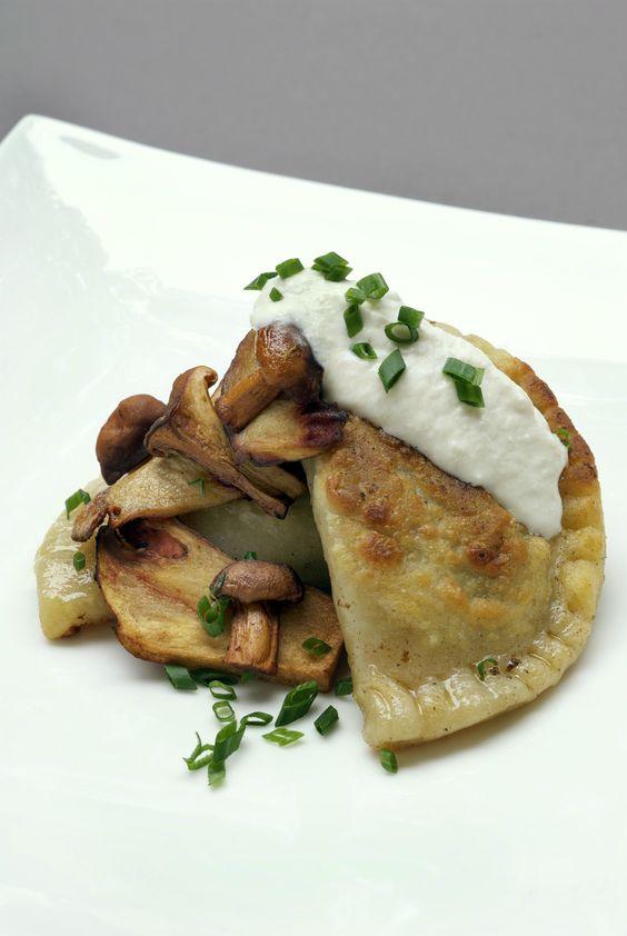... Beef Cheek Pierogies with Wild Mushrooms and Horseradish Recipe