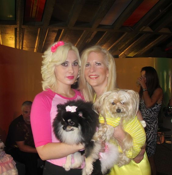 2 lovely ladies with amazing pups that I love very much ; Leslie Gia Puccine and Leslie.