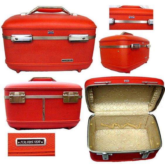 Vintage Train Case / American Tourister Luggage / by 2the9sRetro, $36.00