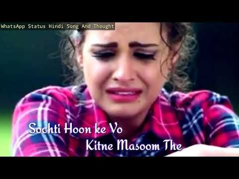 Sochti Hu Ki Woh Kitne Masoom The Female Version Whatsapp Status Youtube Youtube Songs Status Hindi