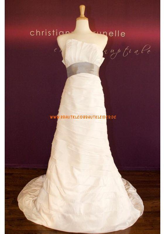 Schlichtes Elegantes Brautkleid 2013 aus Satin