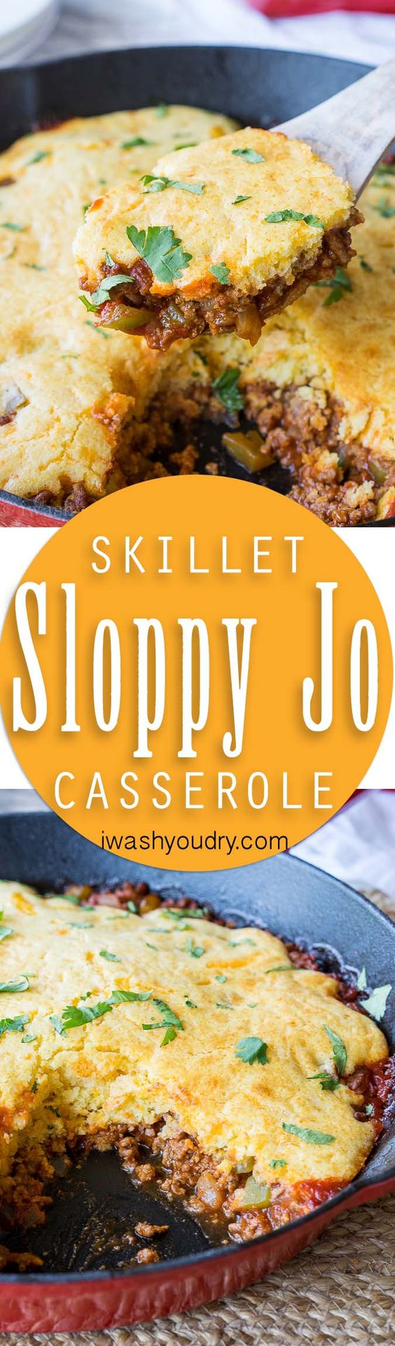 My family LOVED this One Skillet Sloppy Jo Cornbread Casserole! Everything gets cooked in one pan and there were NO leftovers! So yummy!
