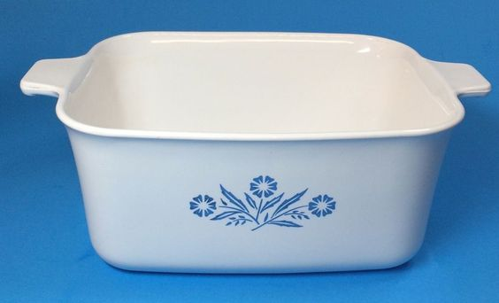 Corning Ware Casserole Loaf Pan P-4-B Cornflower Blue 1.5 Quart Handle No Lid #CorningWare