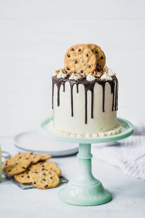 triple layer chocolate chip cookie cake.